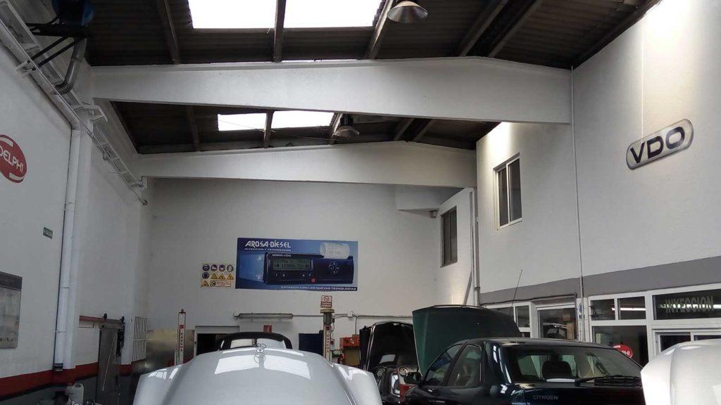 instalaciones interiores taller arosa diésel
