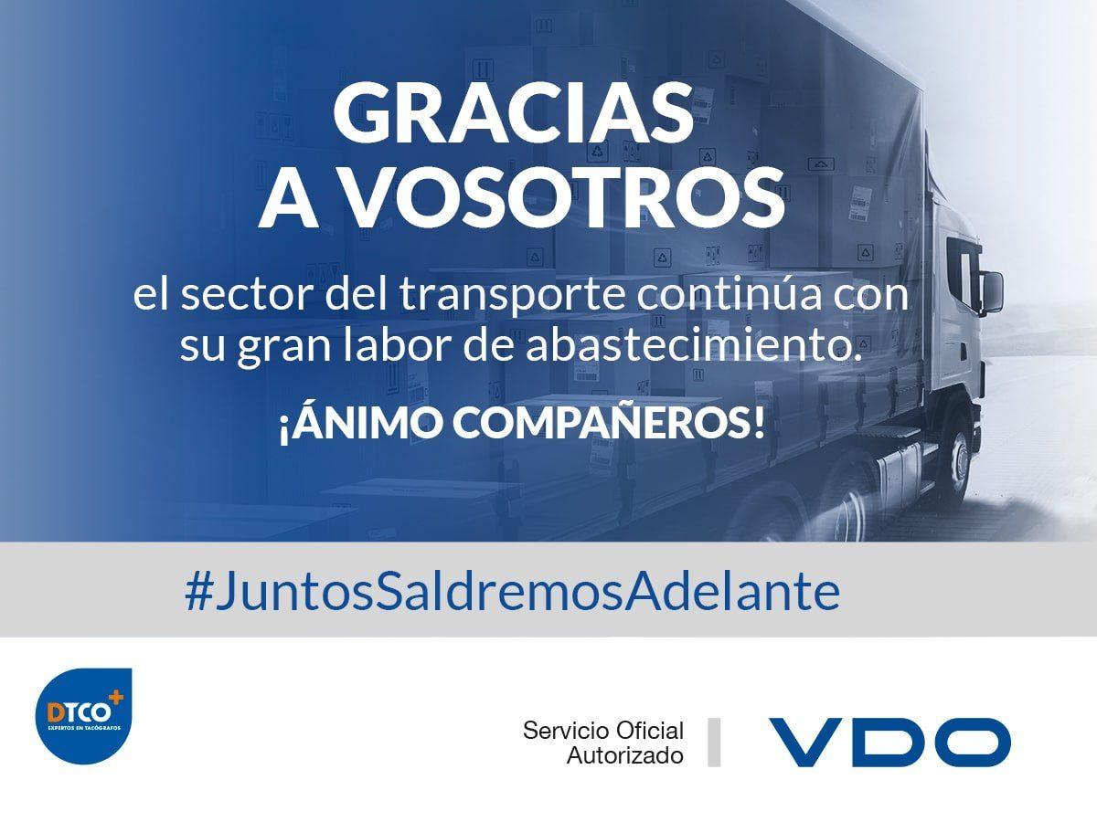 VDO agradece a la Red de Talleres DTCO+ y a los transportistas