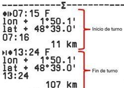 tiempos registrados tacógrafos