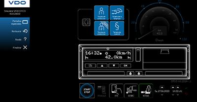 activar y desactivar la función tacógrafo digital