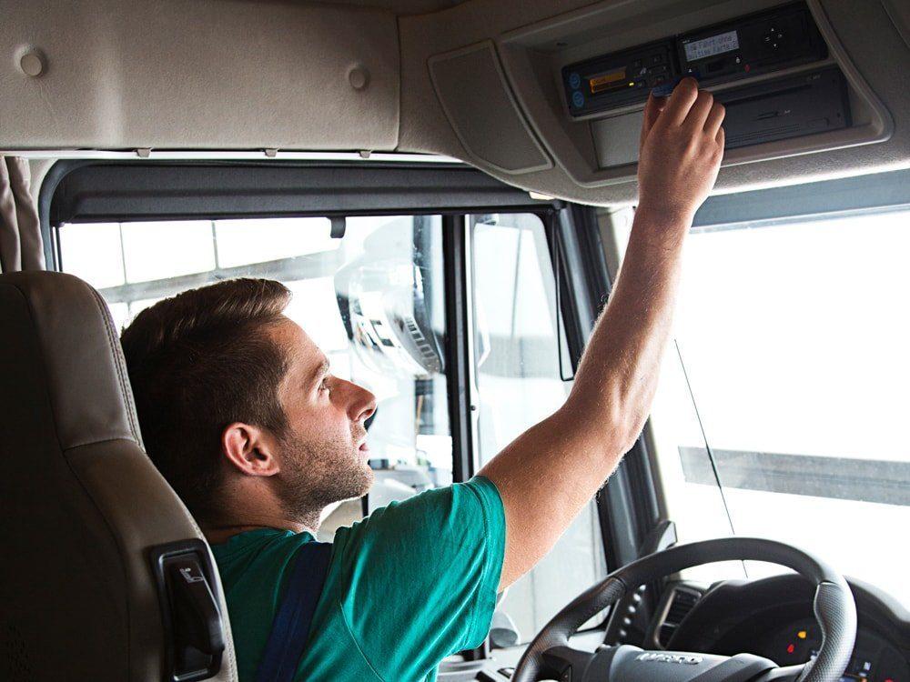 Entradas manuales de las actividades de los conductores de vehículos de transporte por carretera