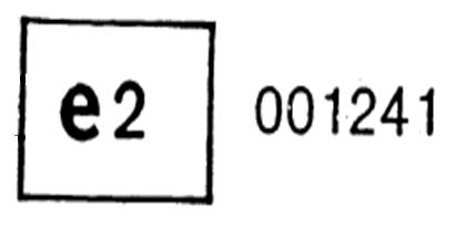 marca de homologación de un limitador de velocidad como unidad técnica independiente